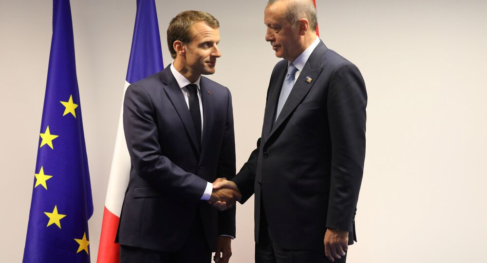 Fransa Cumhurbaşkanı Emmanuel Macron- Cumhurbaşkanı Recep Tayyip Erdoğan