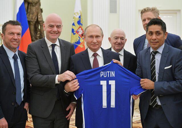 Rusya Devlet Başkanı Vladimir Putin-FIFA Başkanı Gianni Infantino
