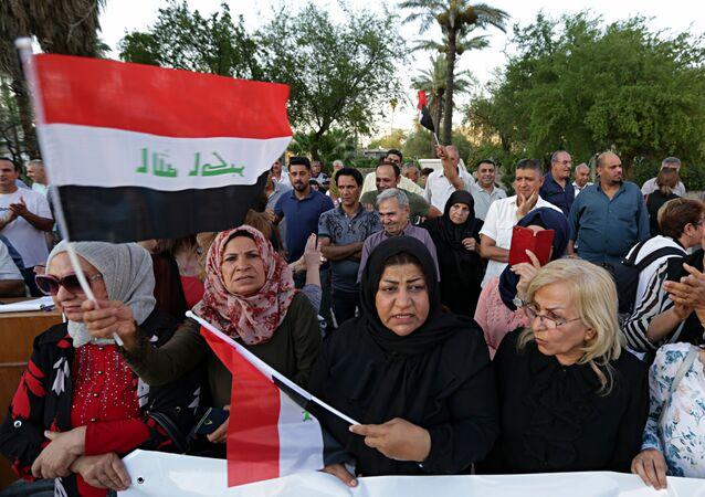 Irak'In başkenti Bağdat'da protestolar