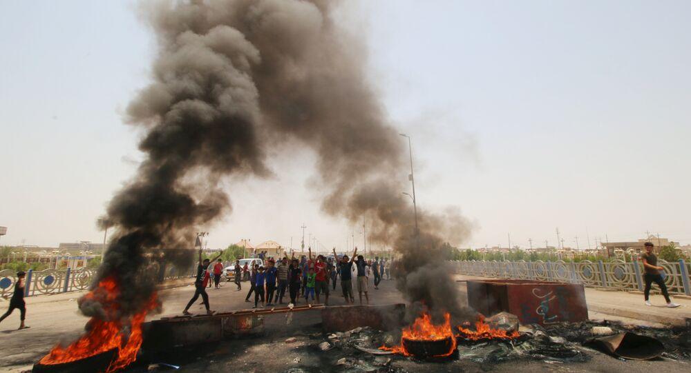 Irak'ın Basra kentindeki protestolar