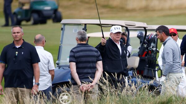 ABD Başkanı Donald Trump İskoçya'da golf oynadı - Sputnik Türkiye
