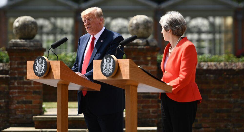 ABD Başkanı Donald Trump ve İngiltere Başbakanı Theresa May