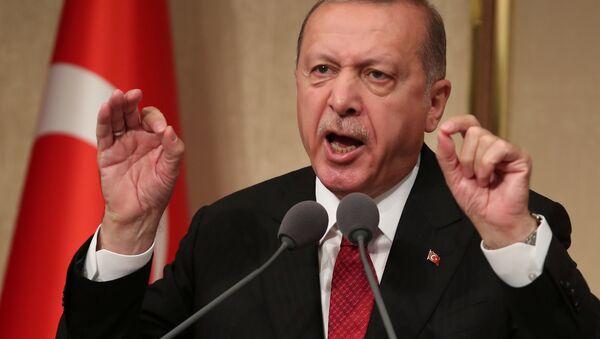 Recep Tayyip Erdoğan, Beştepe'de 15 Temmuz darbe girişiminin 2. yıldönümü töreni - Sputnik Türkiye