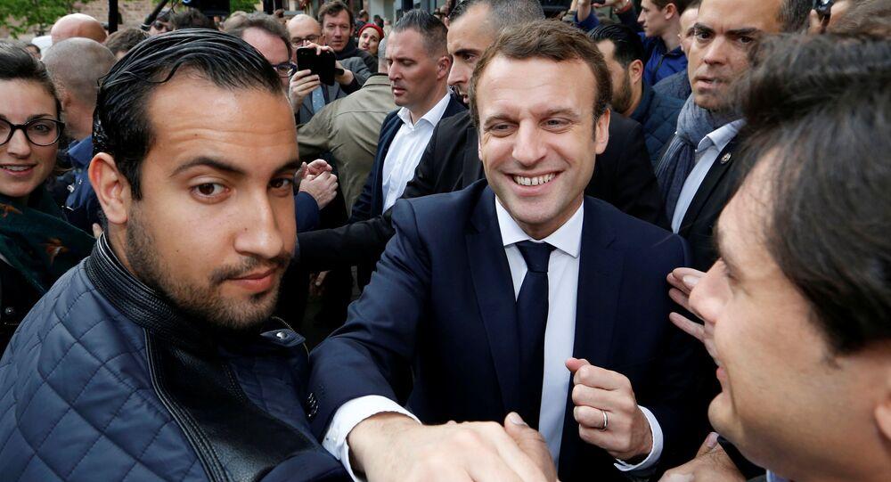 Fransa Cumhurbaşkanı Emmanuel Macron ve Alexandre Benalla