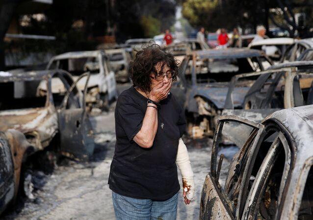 Yunanistan-Orman yangını