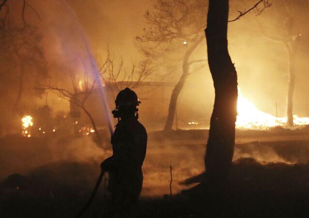 Yunanistan'daki orman yangınları