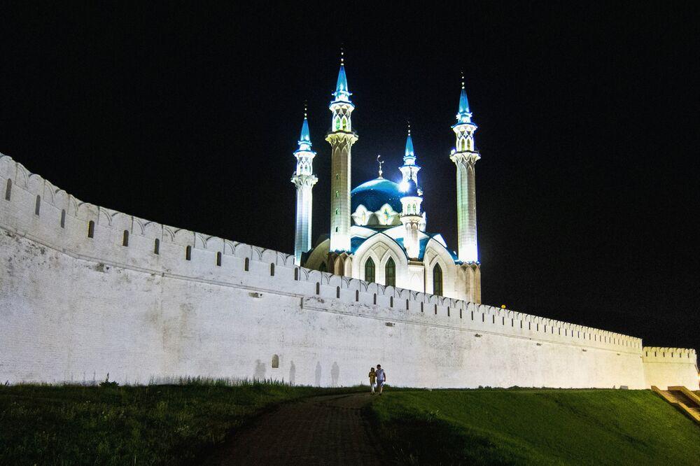 Tataristan'ın başkenti Kazan'da Kul Şerif Camii.