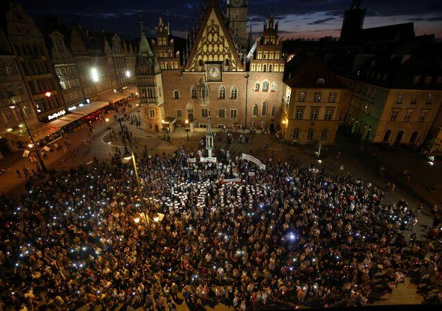 Varşova'daki protesto gösterileri