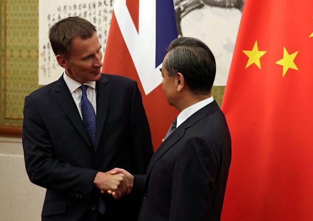 Pekin'de Jeremy Hunt-Wang Yi görüşmesi