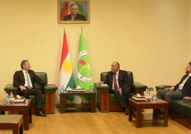 Türkiye'nin Erbil Başkonsolosu Hakan Karakaçay, Kürdistan Yurtseverler Birliği (KYB) sözcüsü Sadi Pire başkanlığındaki bir heyet ile uzun bir aradan sonra ilk kez bir araya geldi.