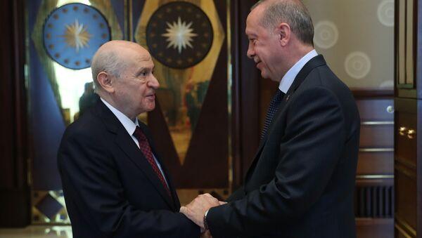 Devlet Bahçeli - Recep Tayyip Erdoğan - Sputnik Türkiye