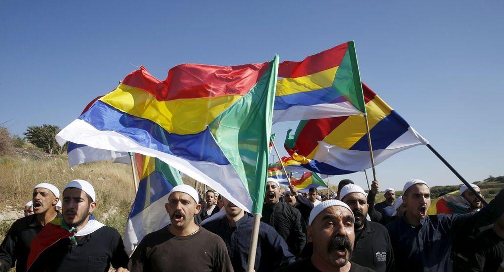 Golan Tepeleri'nde İsrail'i protesto eden Dürziler