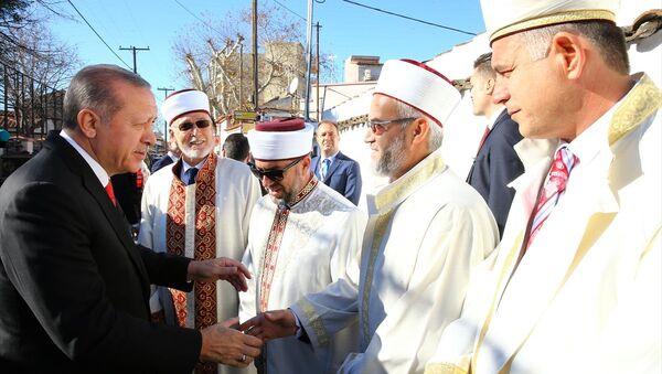 Erdoğan Batı Trakya ziyaretinde müftülerle - Sputnik Türkiye