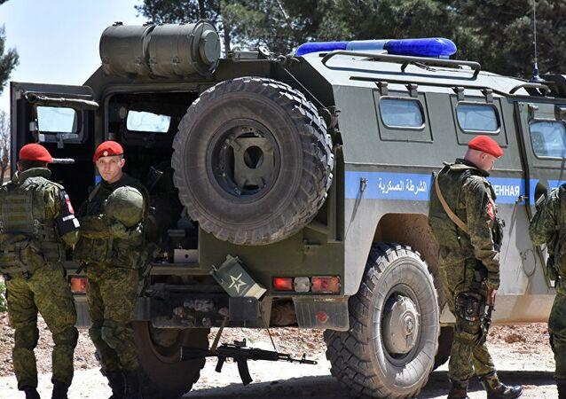 Rus askeri polisi 2017'de Menbiç'te