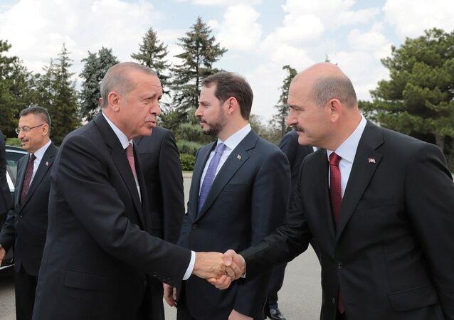 Recep Tayyip Erdoğan, Berat Albayrak, Süleyman Soylu