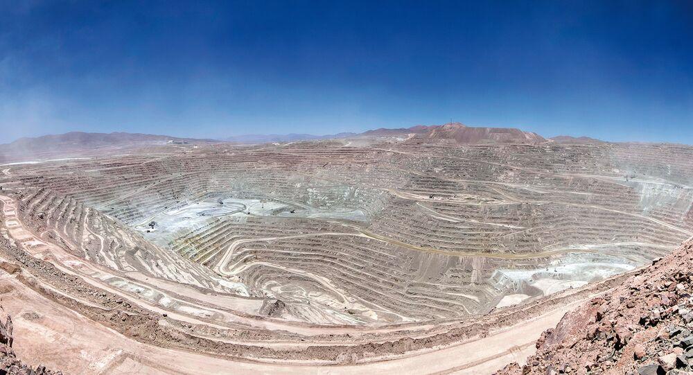 Şili'de bulunan dünyanın en büyük bakır madeni Escondida