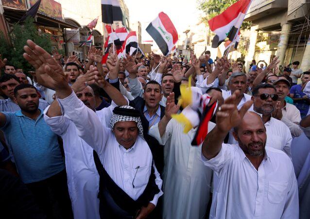Irak'ın Kufe şehrinde protesto