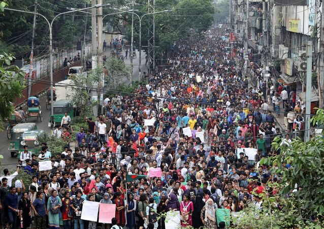 Bangladeş'te protestolar