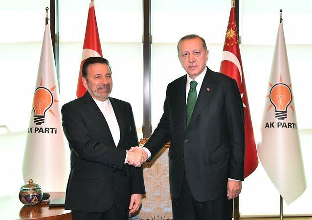 Ruhani'nin özel temsilcisi Vaizi ve Cumhurbaşkanı Erdoğan