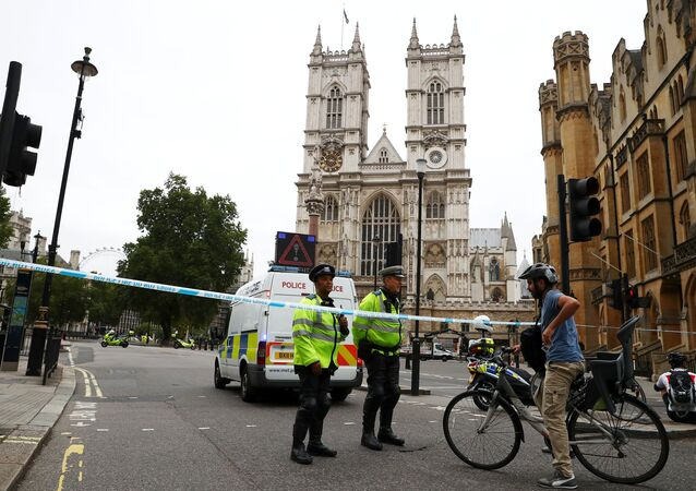 Londra'da parlamento binası bariyerlerine çarpan sürücü, 'terör suçları şüphesiyle' tutuklandı