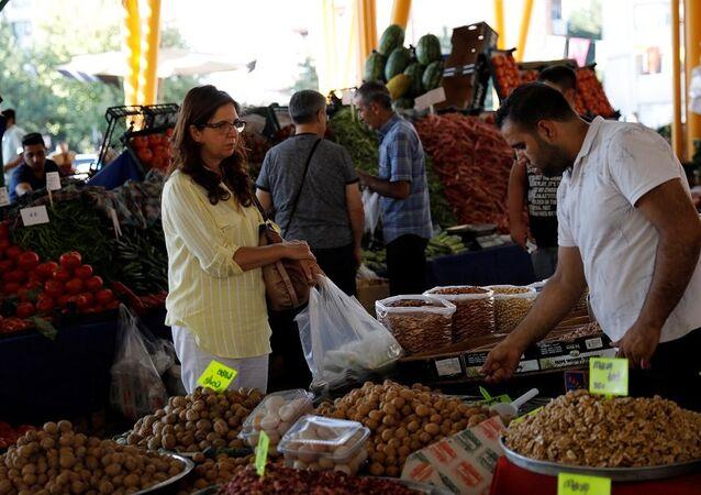 Pazar, alışveriş, meyve, enflasyon
