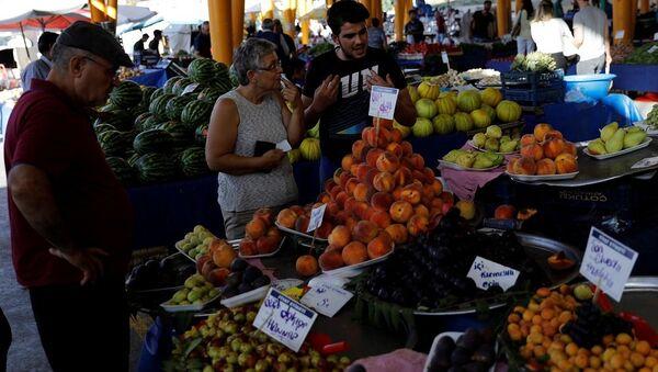 Pazar, alışveriş, meyve, enflasyon - Sputnik Türkiye