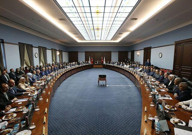 AK Parti Merkez Karar ve Yönetim Kurulu (MKYK) Türkiye Cumhurbaşkanı ve AK Parti Genel Başkanı Recep Tayyip Erdoğan başkanlığında AK Parti Genel Merkezi'nde bir araya geldi.