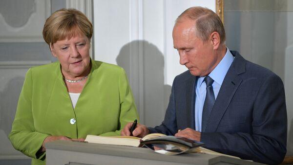Berlin'de Putin-Merkel görüşmesi başladı - Sputnik Türkiye