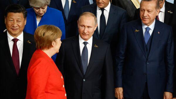 Angela Merkel-Vladimir Putin-Recep Tayyip Erdoğan-Şi Cinping - Sputnik Türkiye