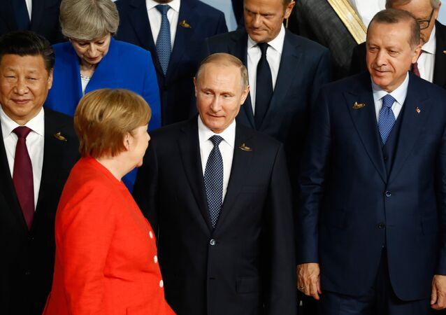 Angela Merkel-Vladimir Putin-Recep Tayyip Erdoğan-Şi Cinping