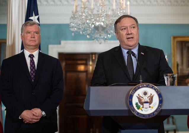 ABD Dışişleri Bakanı Mike Pompeo ve Kuzey Kore Özel Temsilcisi Stephen Biegun
