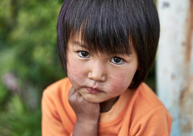 Kırgız halkının portre fotoğrafları