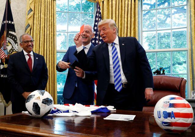 ABD Başkanı Donald Trump-FIFA Başkanı Gianni Infantino