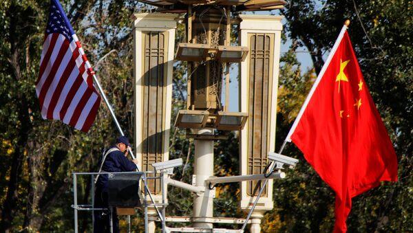 ABD-Çin bayrakları - Sputnik Türkiye