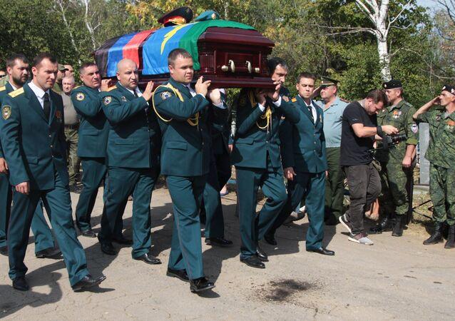 Zaharçenko'nun cenazesi toprağa verildi