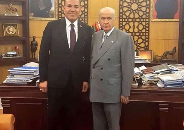 MHP Genel Başkanı Devlet Başkanı Devlet Bahçeli- Adana Büyükşehir Belediye Başkanı Hüseyin Sözlü