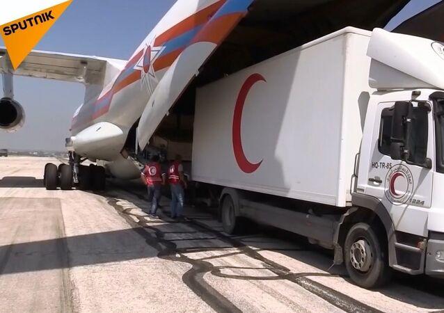 Rusya'dan Suriye'ye 34 ton insani yardım
