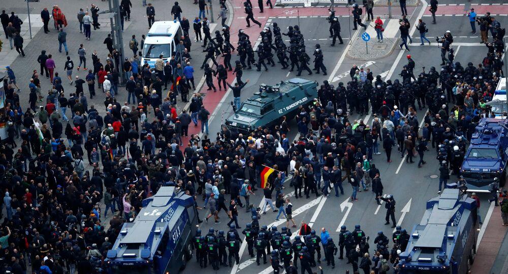 Chemnitz kentinde aşırı sağcı eylemler
