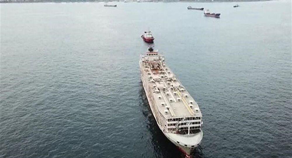 Şarbon iddialarıyla gündeme gelen gemi Türkiye'den ayrıldı