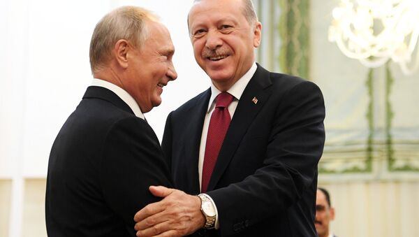 Tahran'daki üçlü zirve öncesi Putin-Erdoğan buluşması - Sputnik Türkiye