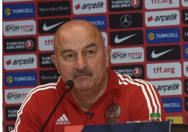 UEFA Uluslar Ligi B Grubu ilk maçında A Milli Futbol Takımı ile karşılaşan Rusya'nın teknik direktörü Stanislav Çerçesov
