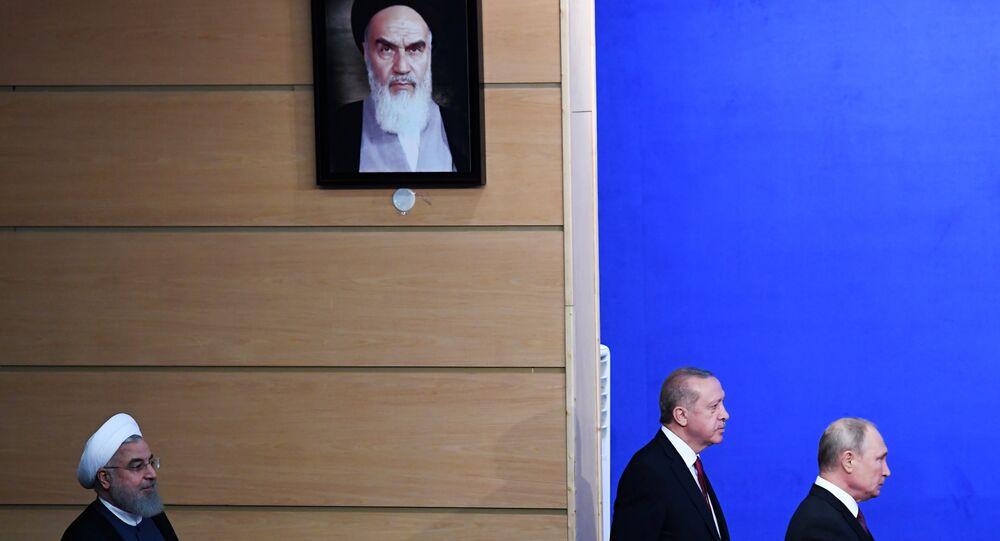 İran Cumhurbaşkanı Hasan Ruhani- Cumhurbaşkanı Recep Tayyip Erdoğan- Rusya Devlet Başkanı Vladimir Putin