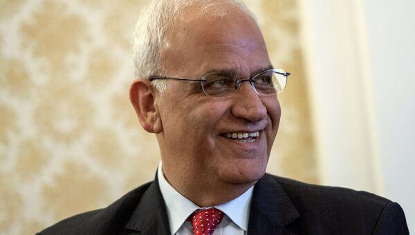 Filistin Kurtuluş Örgütü (FKÖ) Yürütme Konseyi Genel Sekreteri Saib Ureykat - Sputnik Türkiye