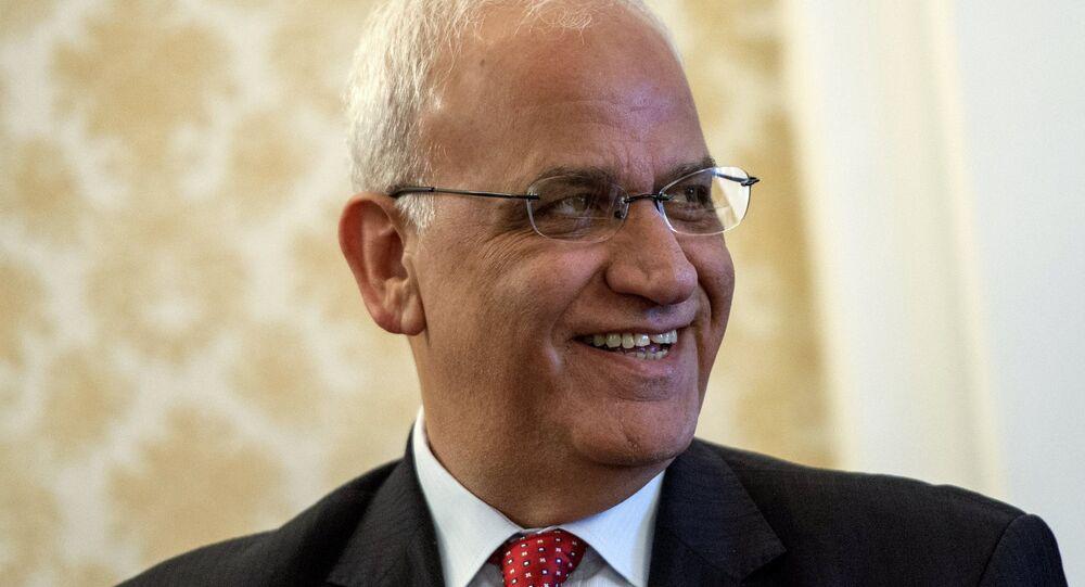 Filistin Kurtuluş Örgütü (FKÖ) Yürütme Konseyi Genel Sekreteri Saib Ureykat