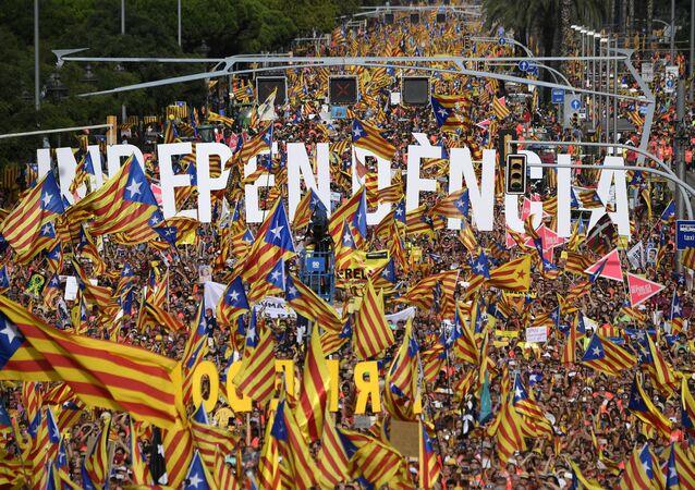Katalonya bağımsızlık yanlısı eylem