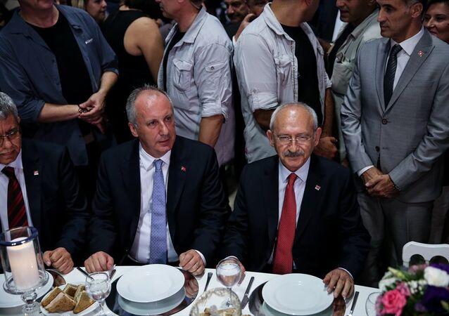 Kılıçdaroğlu ile İnce, nikah şahidi oldukları düğünde bir araya geldi