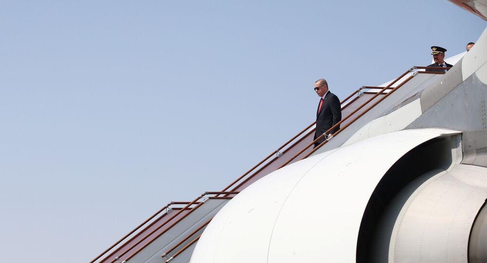 Cumhurbaşkanı Recep Tayyip Erdoğan- Uçak