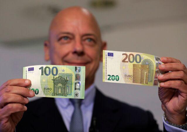 Yeni 100-200 euro banknotların tanıtımı, 17 Eylül 2018, Viyana
