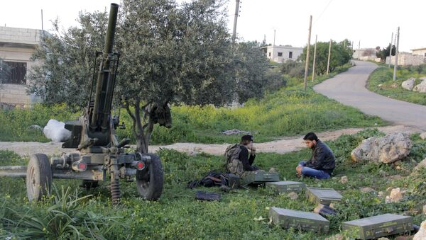 İdlib'in Cisr eş Şuğur bölgesinde Mart 2015'te Ensar eş Şam militanları - Sputnik Türkiye