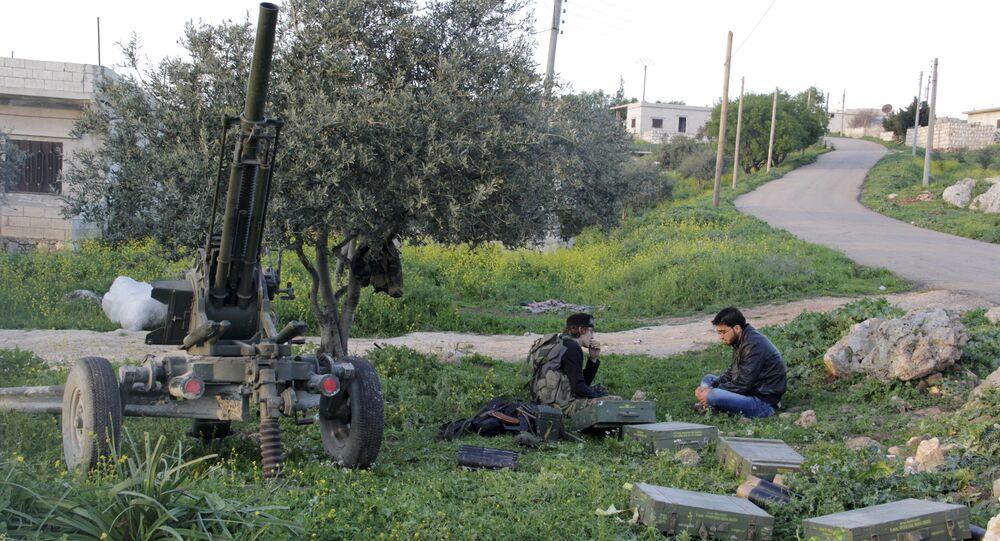 İdlib'in Cisr eş Şuğur bölgesinde Mart 2015'te Ensar eş Şam militanları